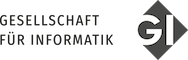Logo der                                     Gesellschaft für Informatik e.V.